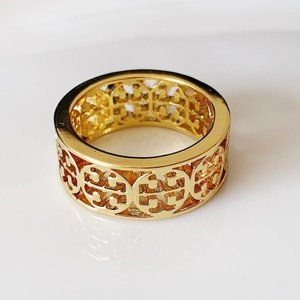 Tory Burch logo gold ring